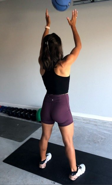 squat to toss with med ball 2