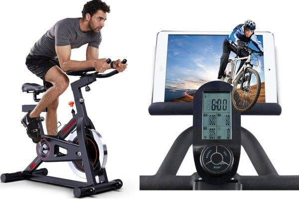 Joroto's bike with tablet holder