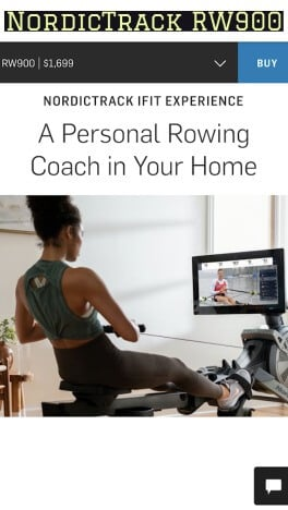 RW900 rowing machine by NordicTrack