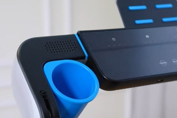 1 of 2 cup holders on the joroto IW9 PRO treadmill