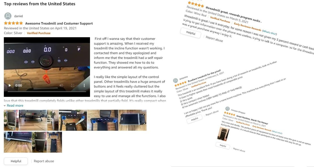 collection of 5-star customer reviews
