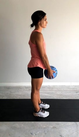medicine ball single leg deadlift 1