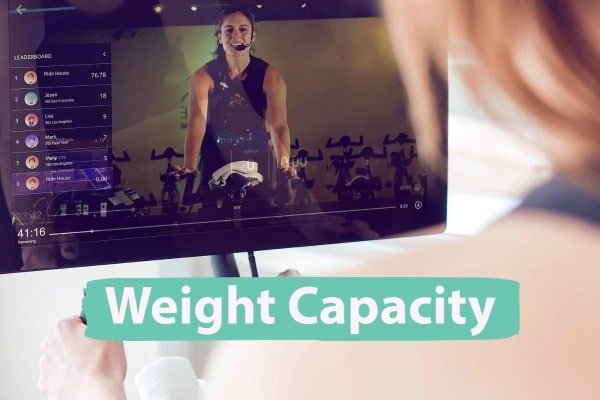 user weight capacity between the 2 spin bikes