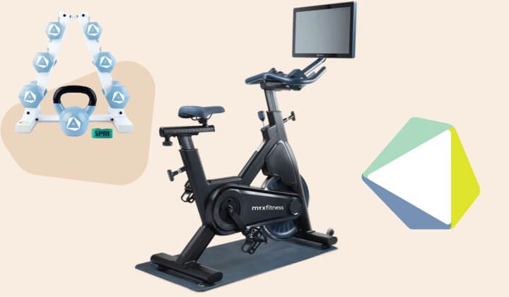 the myx fitness spin bike home gym system