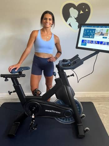 fit healthy momma and the myxfitness bike