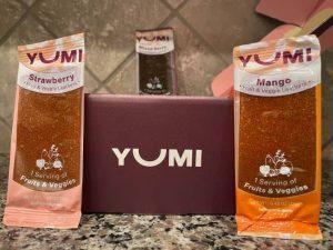 yumi fruit leathers and box