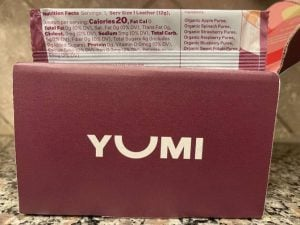 yumi's fruit leather nutritional facts
