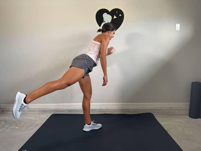 standing glute kickback position