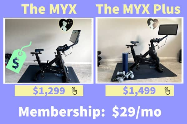 Cost and pricing for myx bike