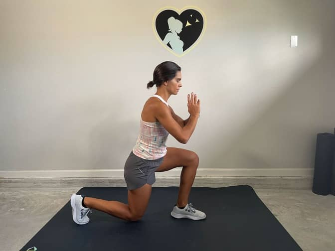 reverse lunge position