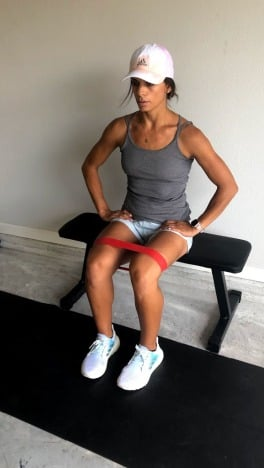 banded seated leg abductions for inner and outer thighs 1