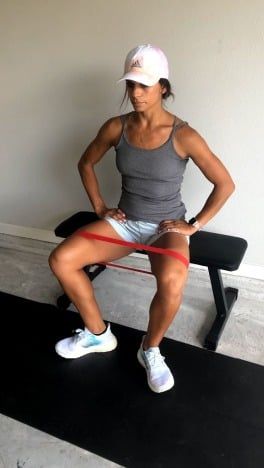 banded seated leg abductions for inner and outer thighs 2
