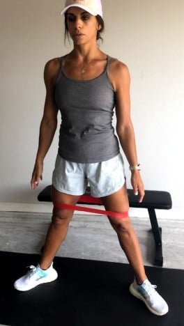 banded sumo squat for inner thighs 1