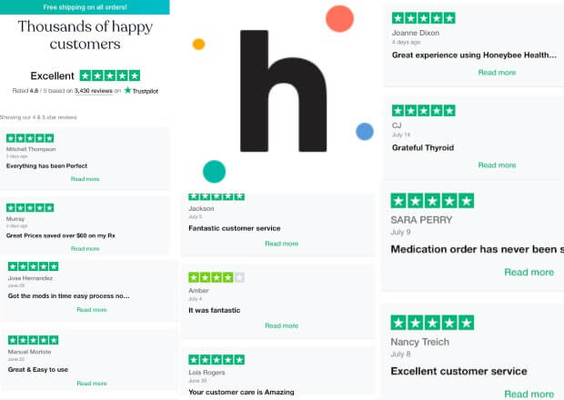 reviews by customers about honeybee health