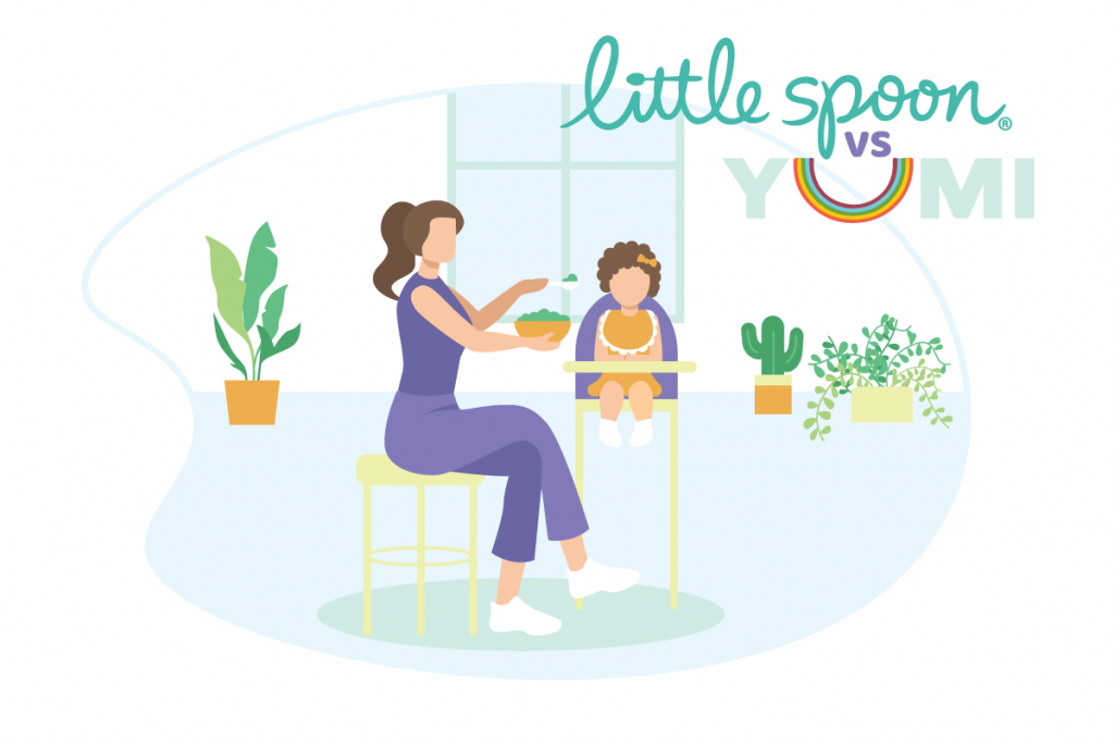 featured image for yumi vs little spoon baby food services