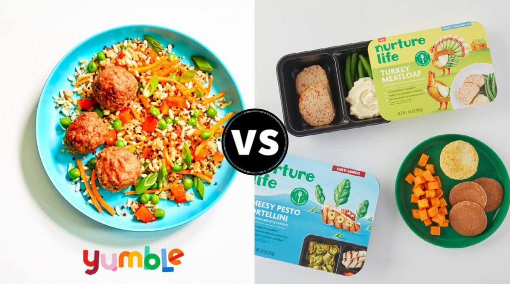 comparison article featured image - yumble vs nurture life