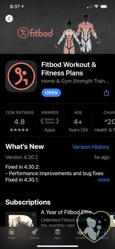 fiton alternative Fitbod app