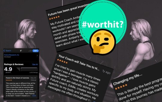 positive customer reviews of future fit app