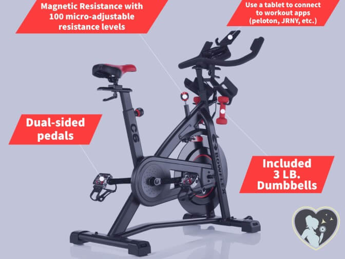 bowflex c6's bike and high-end features