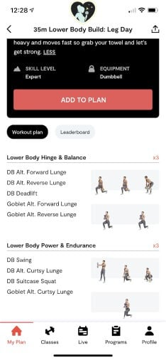 35 min lower body build with form cues
