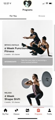 programs to reach a fitness goal