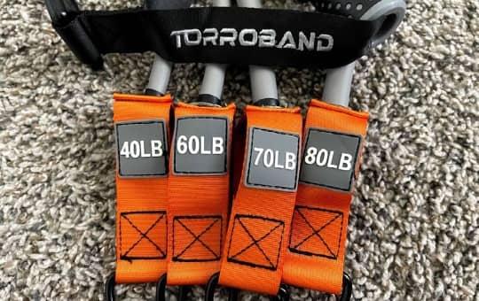 torroband's unique 350 lbs resistance bands