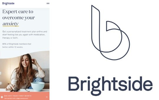 logo and about the brightside health brand