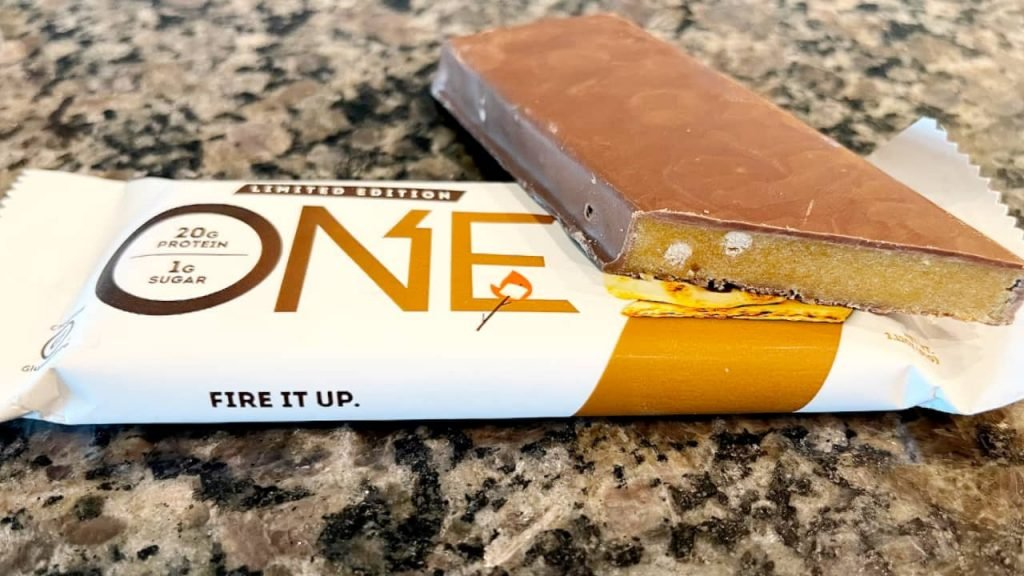 a healthy one bar on counter
