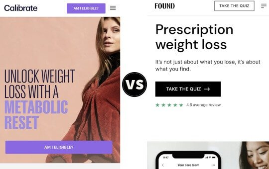 calibrate vs. found for the better weight loss program