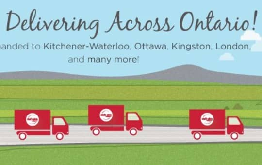 delivery zones for chefs plate across canada