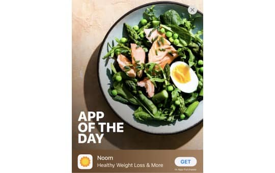 app of the day and cost of noom