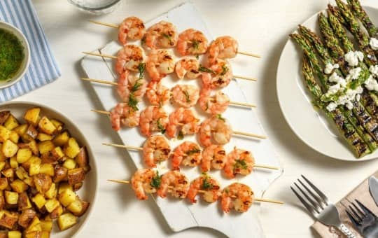 shrimp and veggies staying fresh