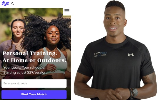 fyt brand logo and personal trainer