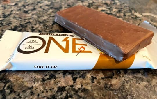 one bar wrapper and the healthy protein bar