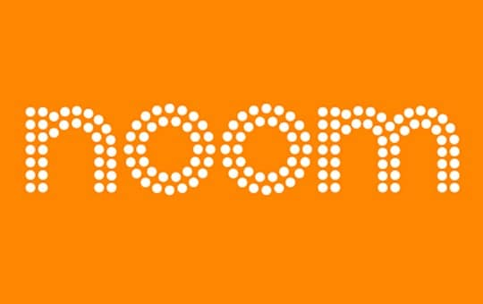 noom's logo and reviewing their brand