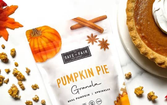pumpkin pie granola and other products offered