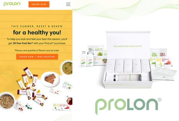 logo of prolon and diet system image