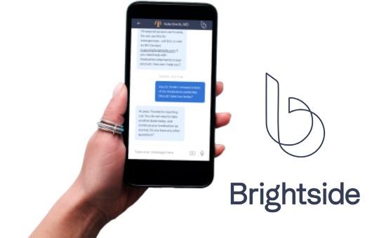 brightside health logo and rating