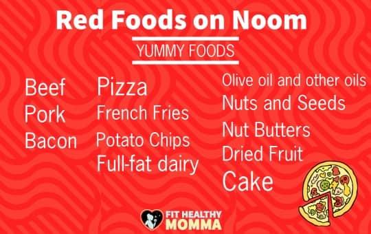 red foods on noom diet