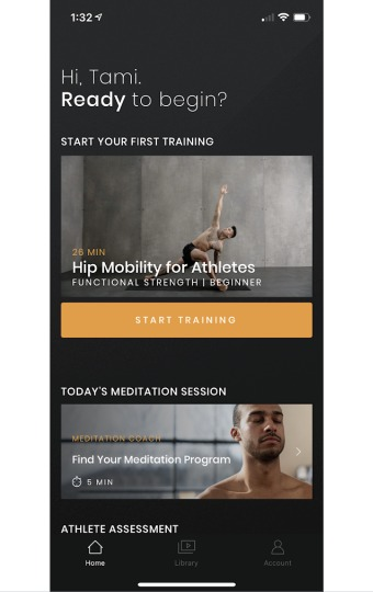 Tami's skill yoga app dashboard