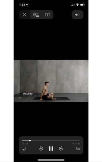 mobility yoga class on skill yoga app