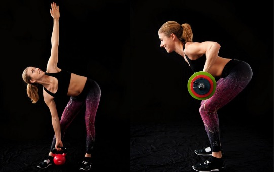 woman getting benefits from strength training