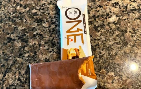 a healthy one bar on my kitchen counter