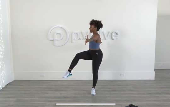 verifying my workout with pvolve's app