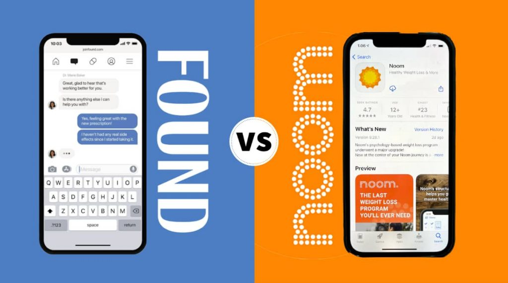 found versus noom weight loss comparison - featured image
