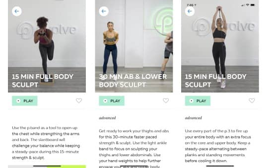p volve app and workouts + method