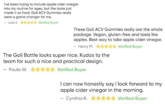 customer reviews goli