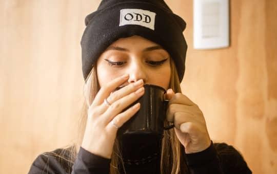 drinking javy coffee (worth my money)
