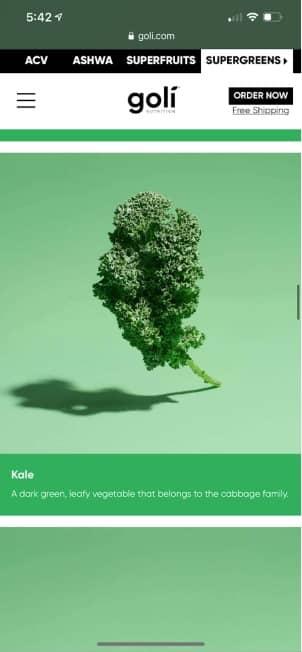 kale in goli supergreens gummies