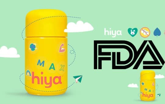 hiya bottle and fda logo